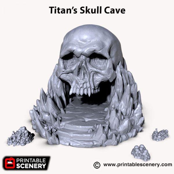 3d printed Titan Skull Cave