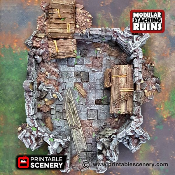 3D Tower of Insanity Warhammer Dungeons and Dragons Frostgrave Mordheim