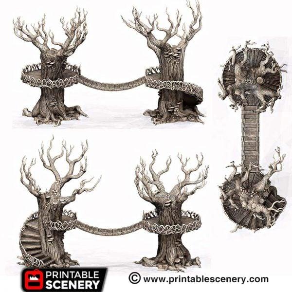 3D printed Elven Walkway trees