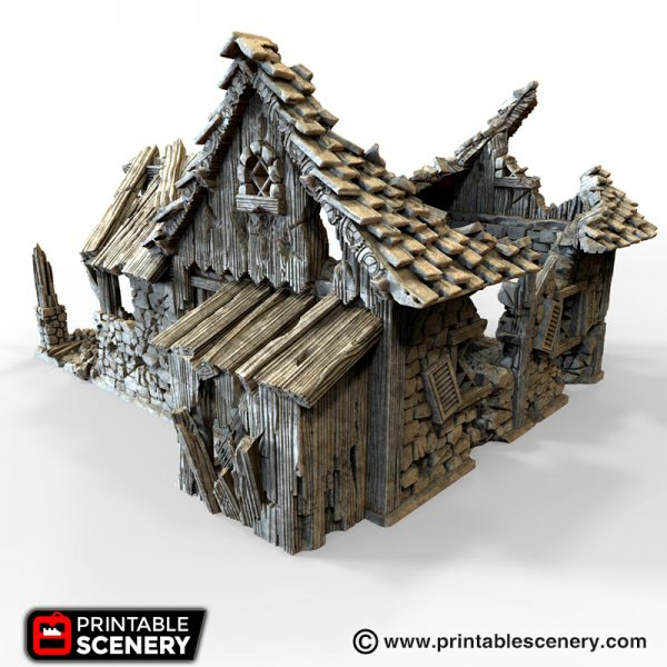 Ruined Blacksmith 3D Printable