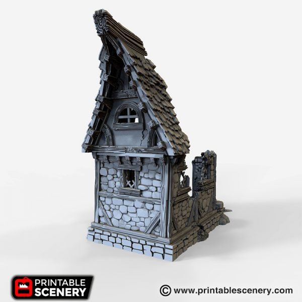 Ruined Small Cottage 3d printable