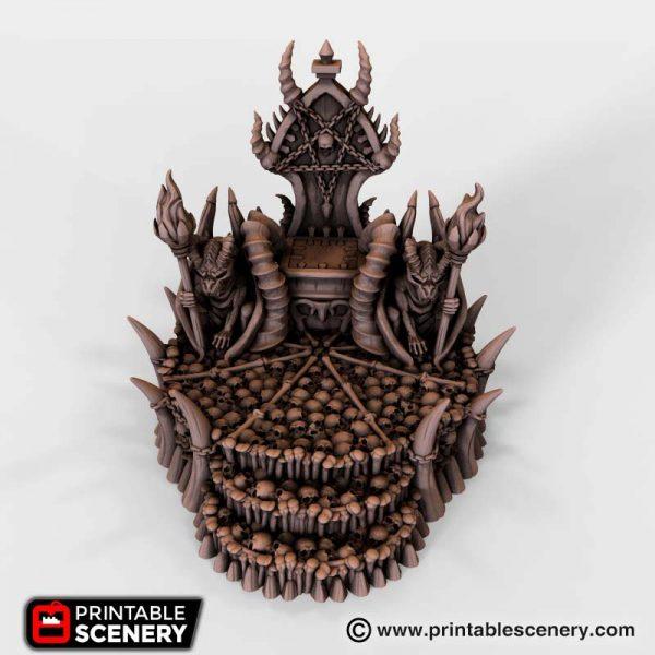 Skull Throne 3D Printable