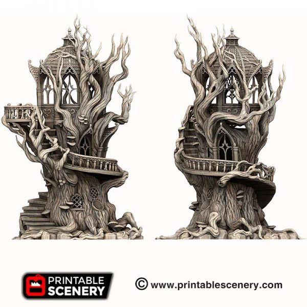 3D Printed Gloomwood Treehouse Elven
