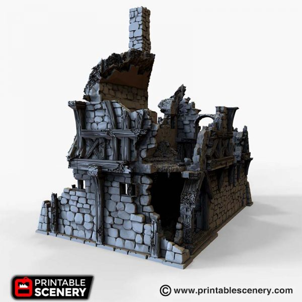 Ruined Port Merchant 3d printable