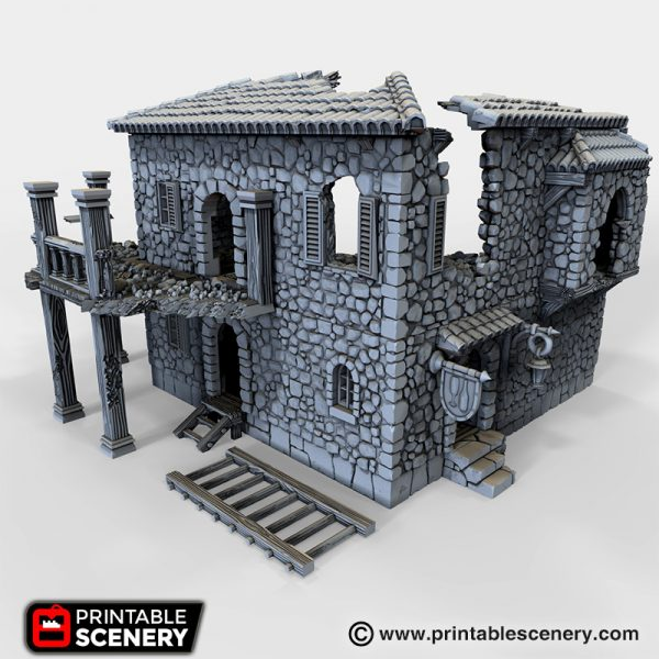 Ruined Port Tavern 3D printable