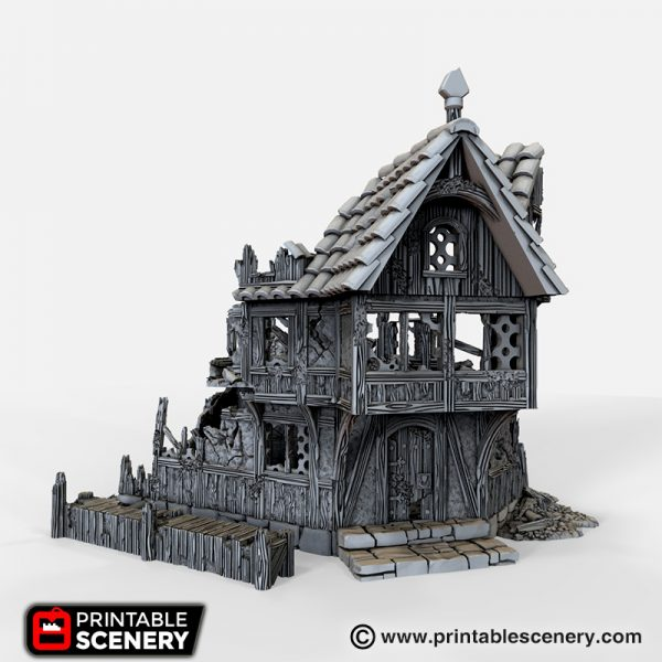 Ruined Merchants and Markets 3D printable