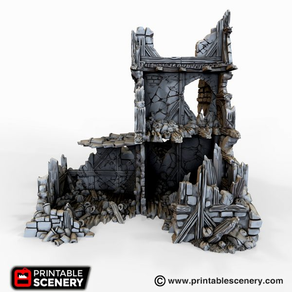 Ruined War Cottage 3d printable