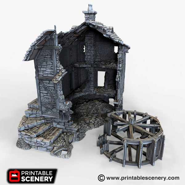 Ruined Water Mill 3d printable