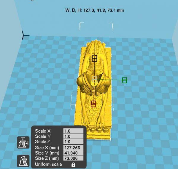 3d print Alien Sphinx statue