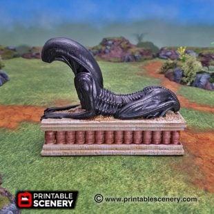 3d printed Serpahon Lizardmen Mayan Aztec Sphinx