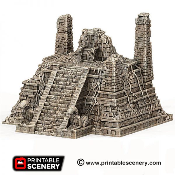 3d print Alien throne aztec pyramid