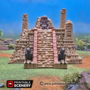 3d printed Serpahon Lizardmen Mayan Aztec Sphinx Pyramid Throne