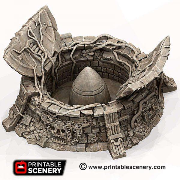 3d print Ancient missile silo Aliens aztec pyramids