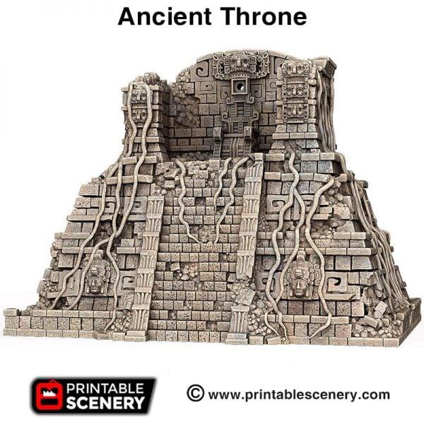 3d print Ancient throne Aztec pyramid