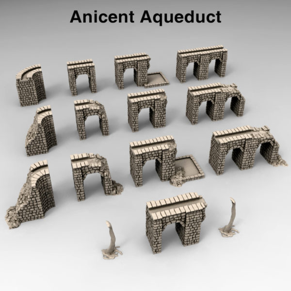 3d printed Serpahon Lizardmen Mayan Aztec Ancient Aqueducts