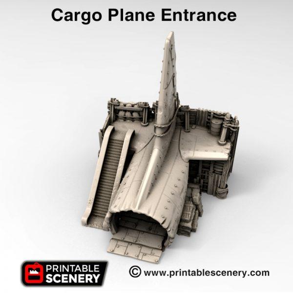 3d print Cargo Cult plane entrance Wastelworld Gaslands