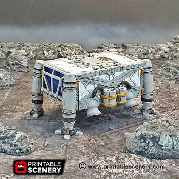 3d Printable sci-fi 40k infinity Moonbase furniture