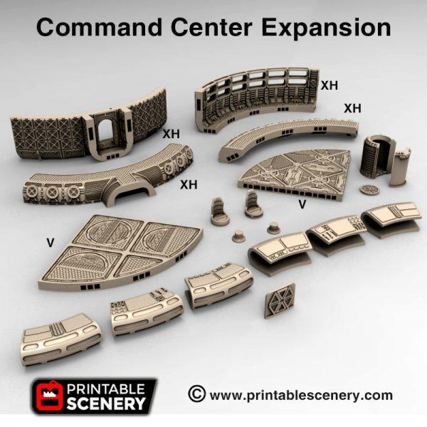 3d Printable sci-fi 40k infinity Command centre