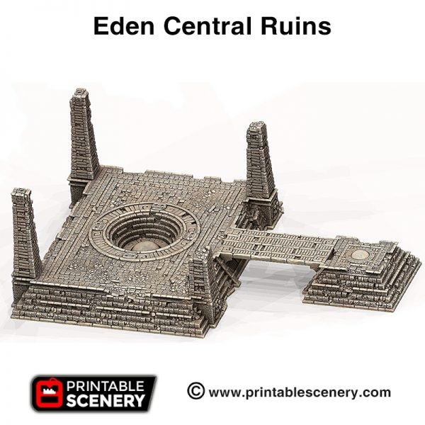 3d print Eden Central ruins pyramids Serpahon Lizardmen Mayan Aztec