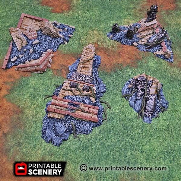 3d printed Serpahon Lizardmen Mayan Aztec Ruins