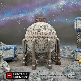 3d Printable sci-fi 40k infinity Moonbase Fuel reservoir