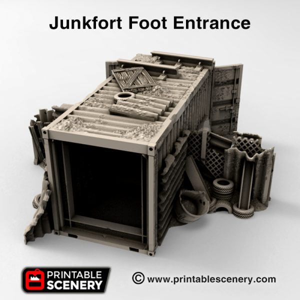 3d print Junfort Foot Entrance cargo container gaslands wastelands