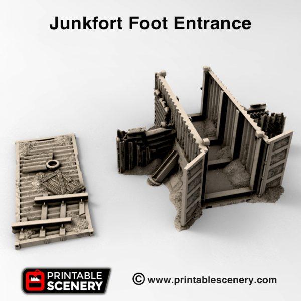 3d print Junfort Foot Entrance cargo container gaslands wastelands