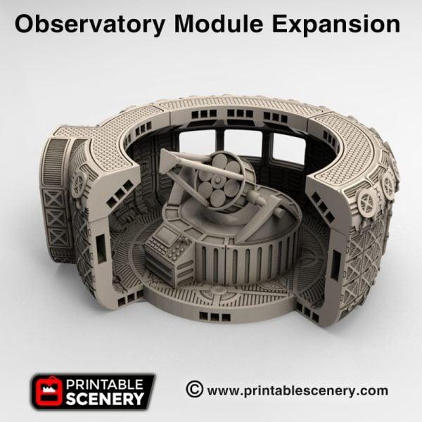 3d Printed Moonbase Observatory Module