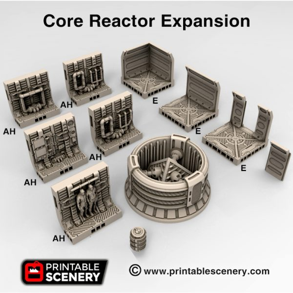 3d Printable sci-fi 40k infinity Moonbase Reactor core