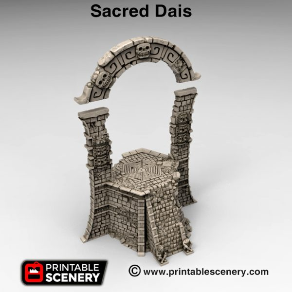 3d print Sacred Dais Alien pyramid Aztec