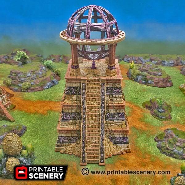 3d printed Serpahon Lizardmen Mayan Aztec Pyramid Engine