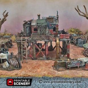 3d Printed Gaslands Fallout Post-Apocalypse Survivalist Shack