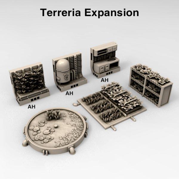 3d Printable sci-fi 40k infinity Moonbase Terreria