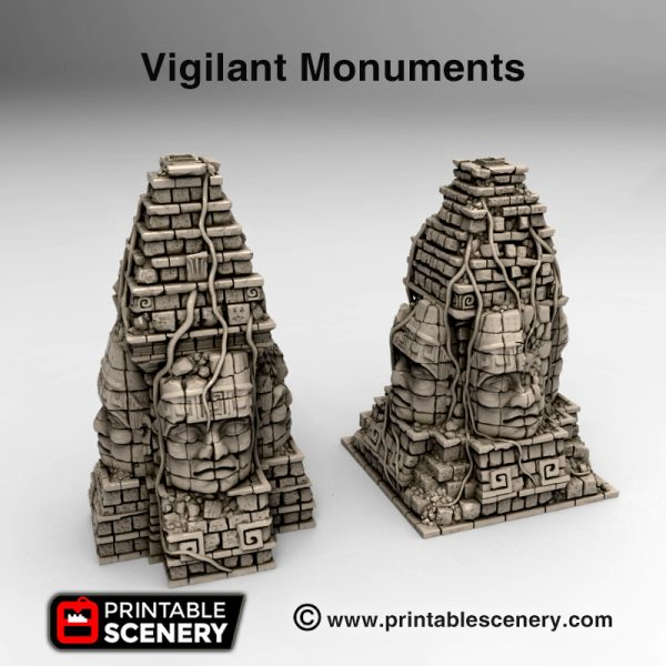 3d printed Serpahon Lizardmen Mayan Aztec vigilant monuments