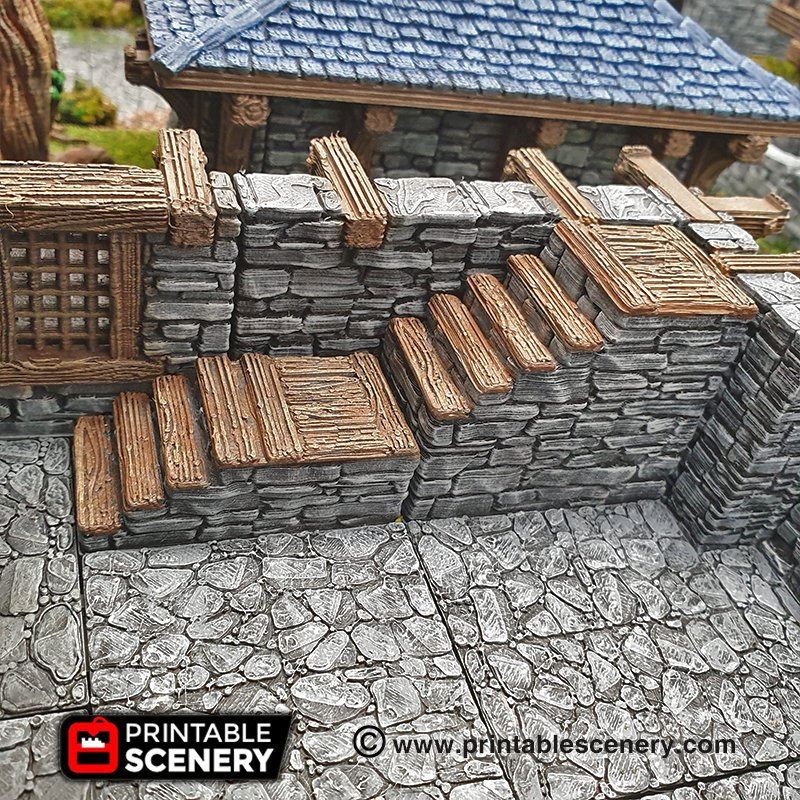 Rustic Stone and Wood Stairs