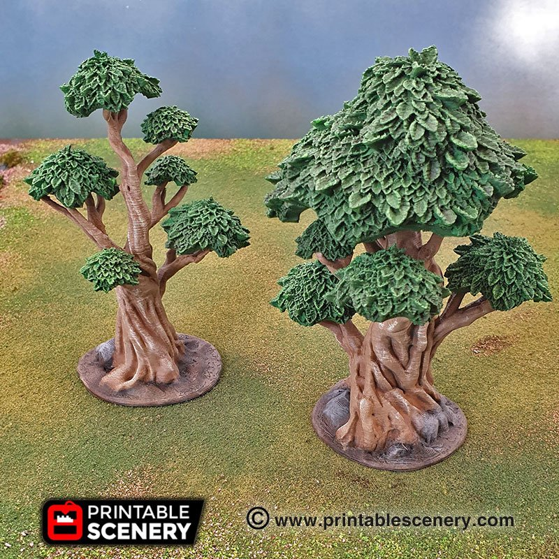 Gnarly Trees with Canopies