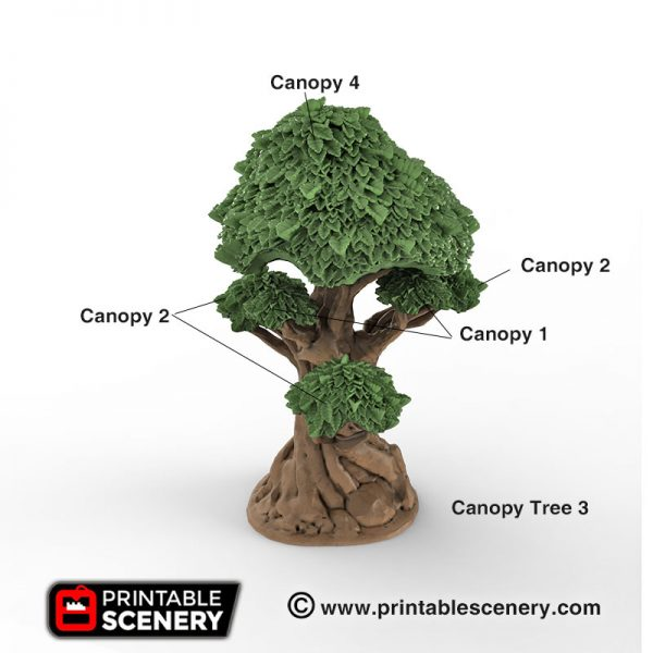 Clorehaven Canopy Trees Wilderness Forest Dungeons and Dragons RPG 3Dprinted