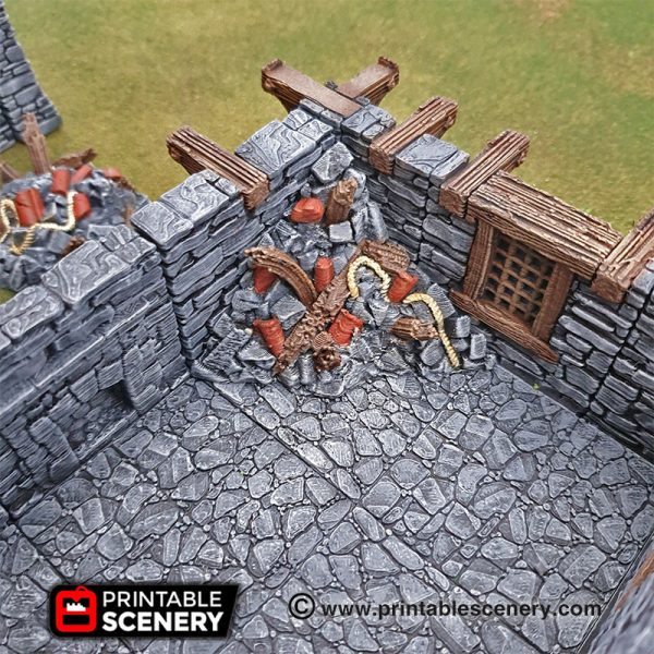 Clorehaven Dungeons and Dragons RPG 3Dprinted City Ruins