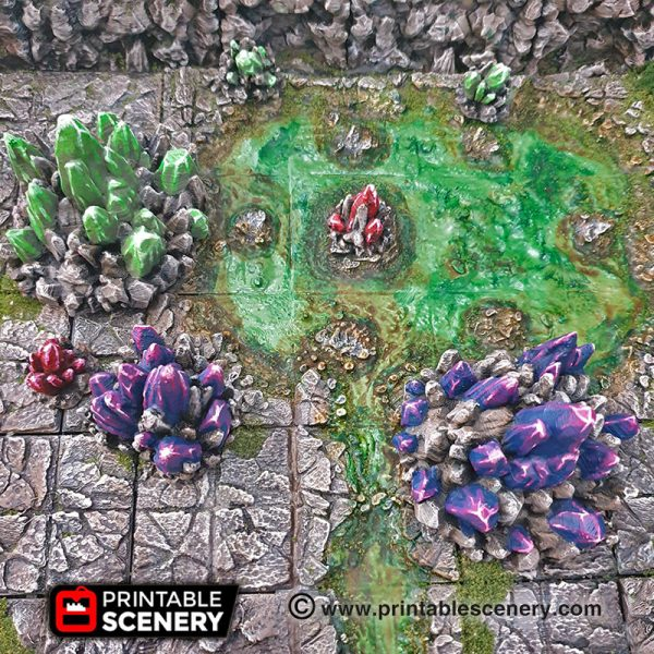 Caverns Crystals Dungeons and Dragons RPG 3Dprinted