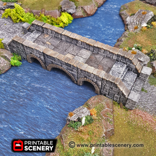 Rampage Heavy Stone Bridge Dungeons & Dragons RPG 3DPrinted Bridge