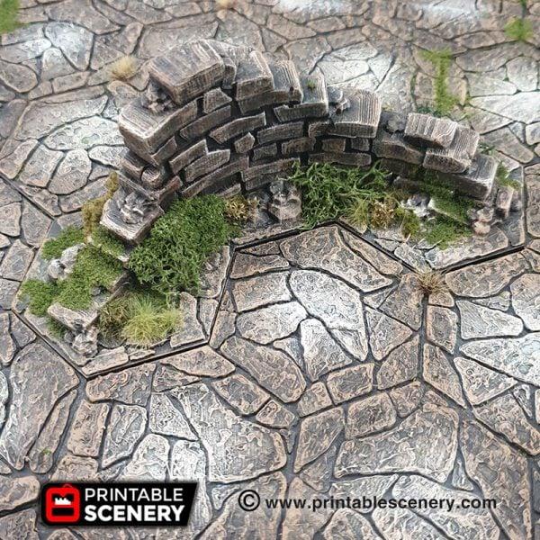 Rampage Dungeons and Dragons RPG 3Dprinted Hex tiles shadespire nightvault warhammer