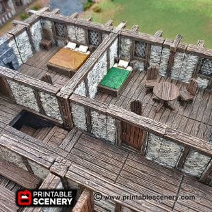 Clorehaven Dungeons and Dragons RPG 3Dprinted City Furniture Bar