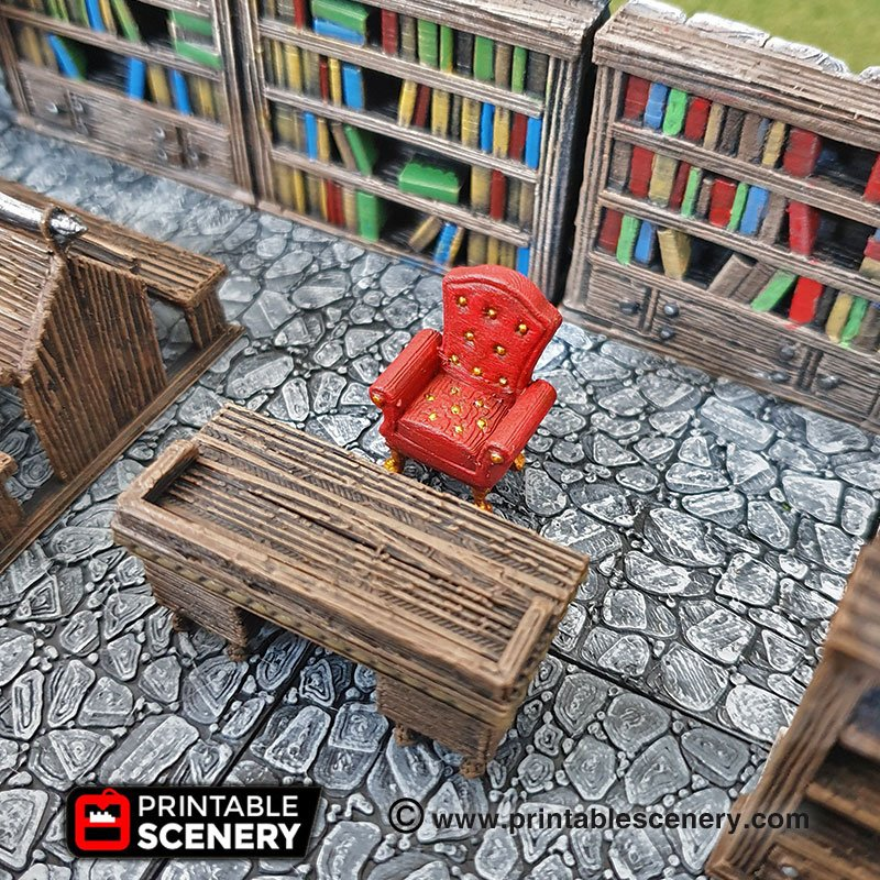 Library Furniture Printable Scenery
