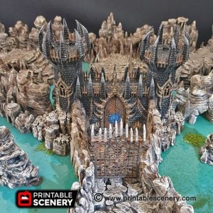 Dungeons and Dragons RPG 3Dprinted Underdark Hell