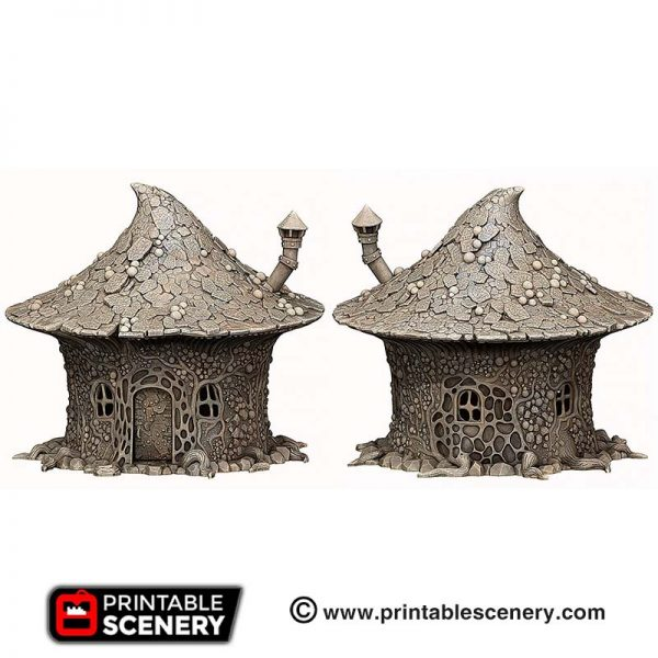 3D printed Goblin Grotto Mushroom Hovel House