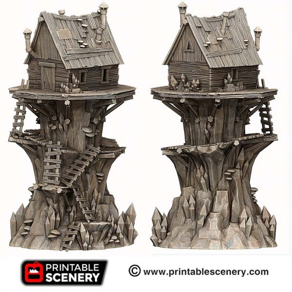 3D printed Shanty Tower goblin house