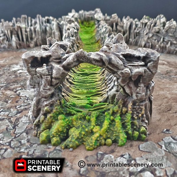 Goblin Grotto Cavern Purple Wyrm Freeform Dungeons and Dragons RPG 3Dprinted