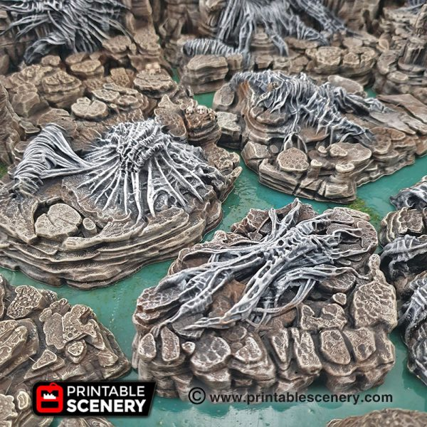 Goblin Grotto Cavern Freeform Dungeons and Dragons RPG 3Dprinted spiders