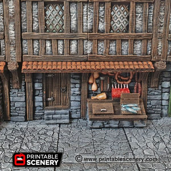 3D Printed Dungeons And Dragons Shop Front Butchers