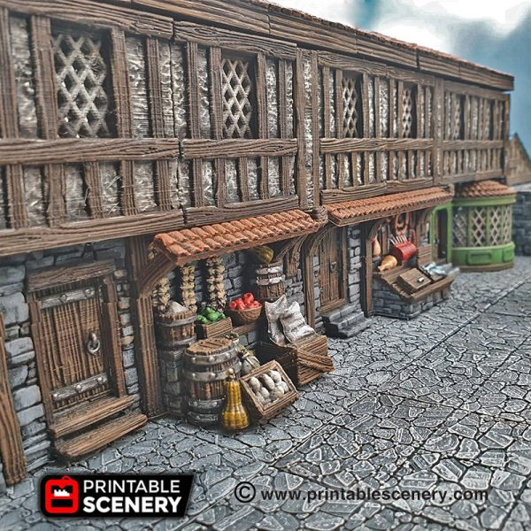 3D Printed Dungeons And Dragons Shop Front General Store
